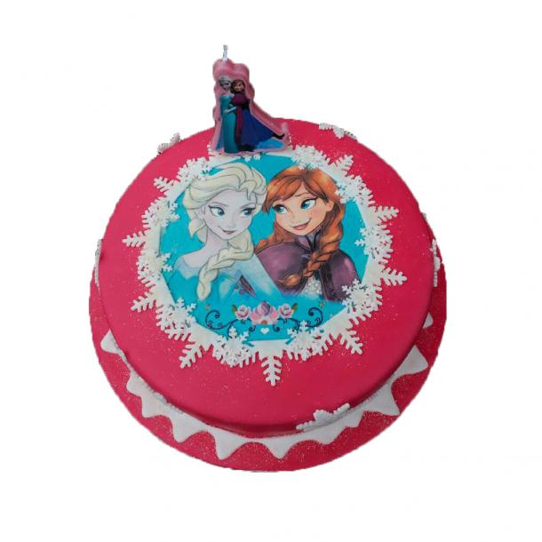 Frost fødselsdagskage - Lav nemt en Frost kage med Frost kageprint
