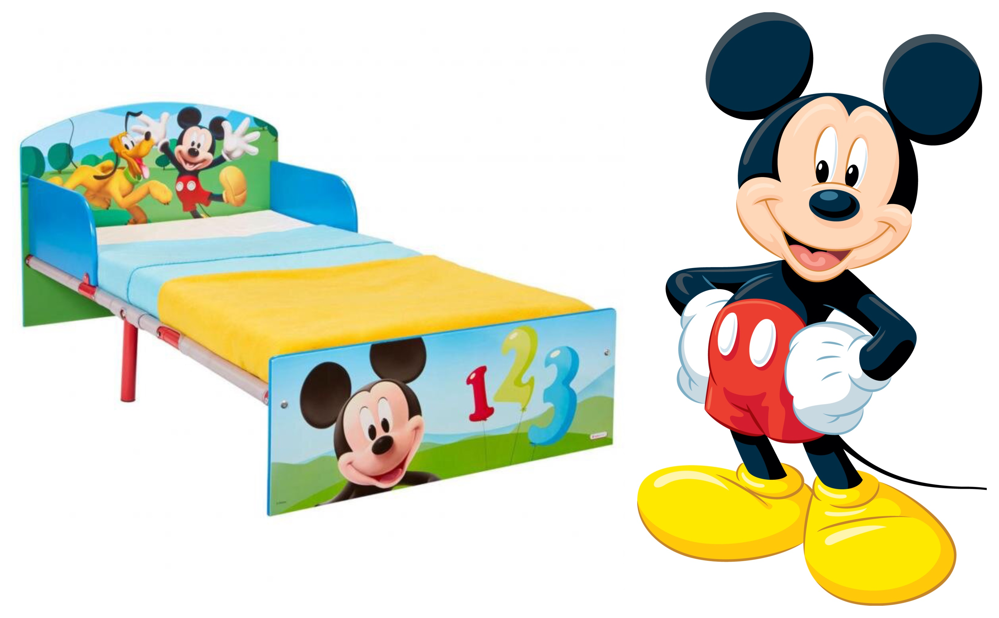 Mickey mouse juniorseng, mickey mouse børneseng, mickey mouse seng til børn, seng med mickey mouse motiv, disney juniorseng, disney børneseng, mickey mouse gaver, mickey mouse møbler til børneværelset, mickey mouse børnemøbler