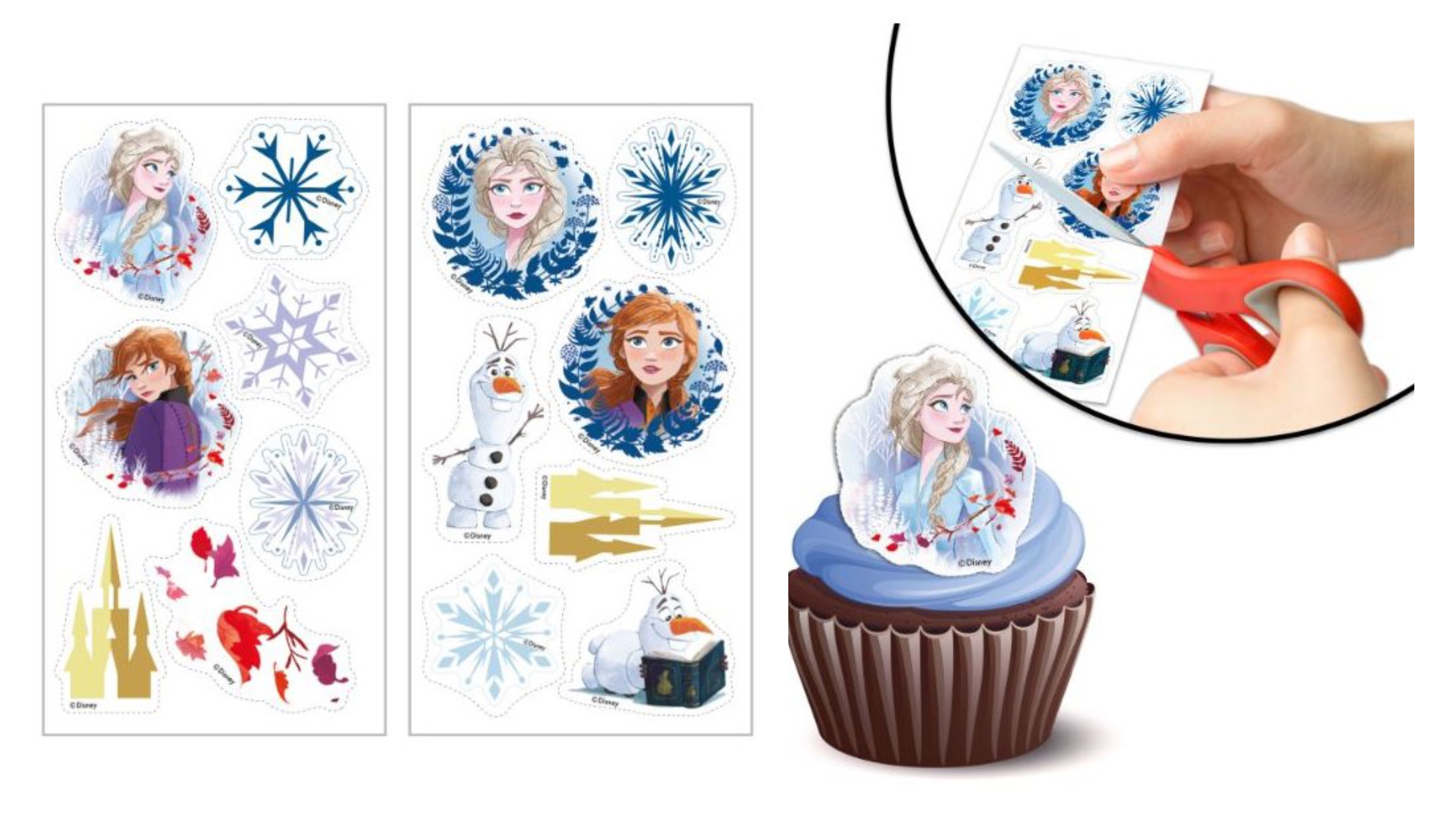frozen 2 muffins sukkerprint - Lav nemt en Frost kage med Frost kageprint
