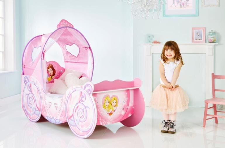 karet pigeseng med disney prinsesser - Disney prinsesser juniorseng