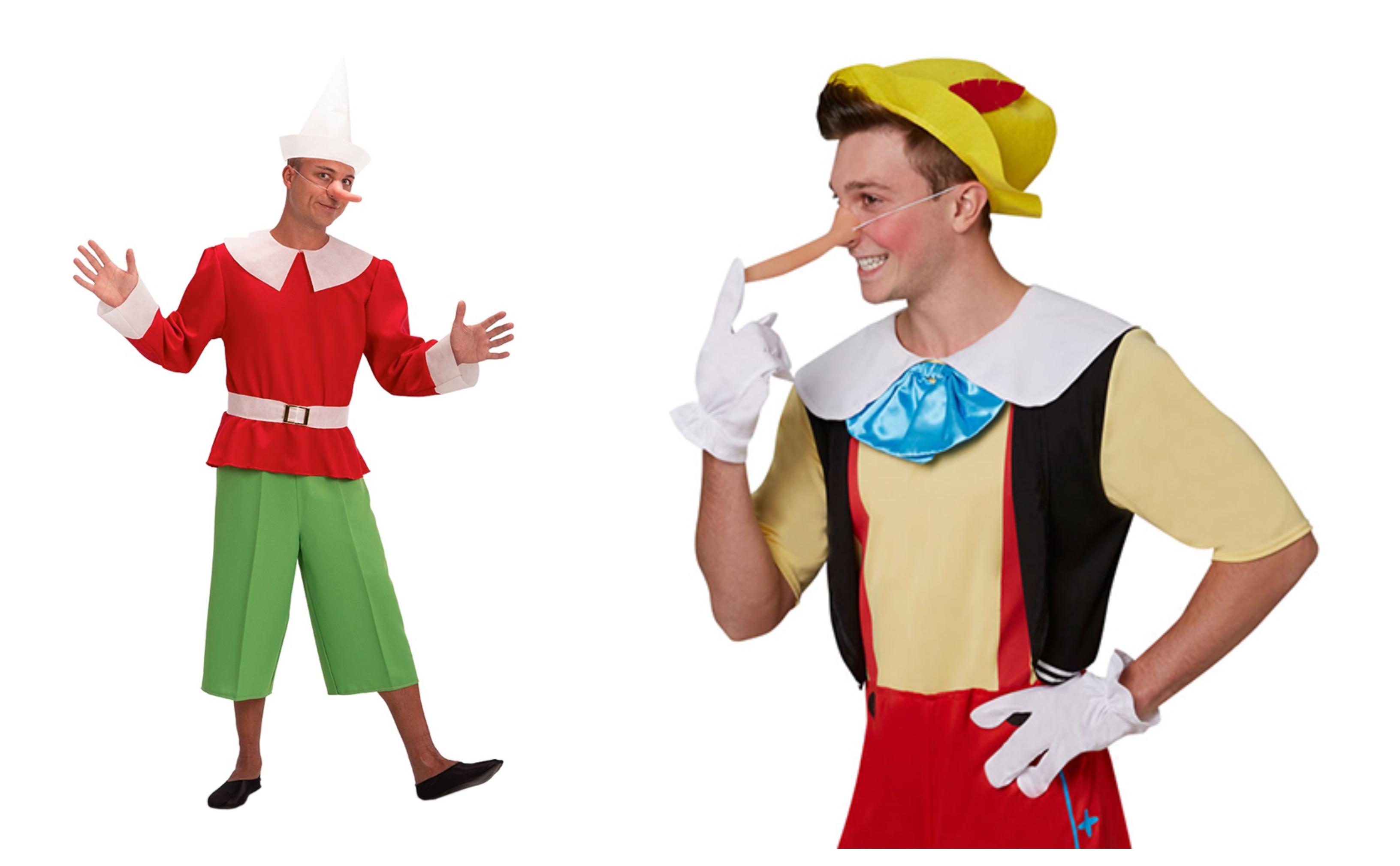 pinocchio kostume til voksne, pinocchio udklædning til voksne, pinocchio voksenkostumer, pinocchio kostumer, disney kostume til voksne, disney voksenkostumer, disney fastelavnskostume til voksne