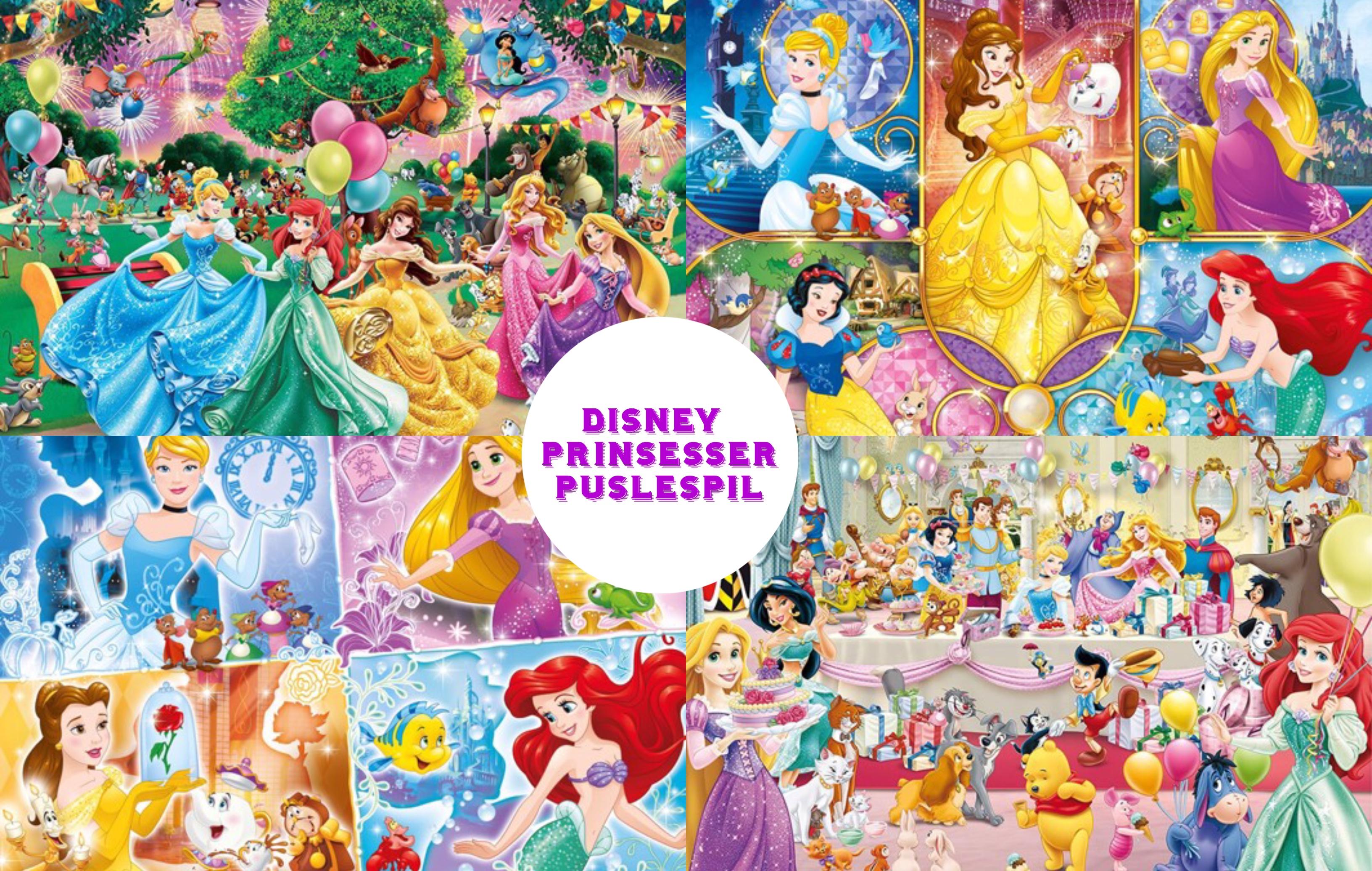 Disney prinsesser puslespil – for børn og voksne