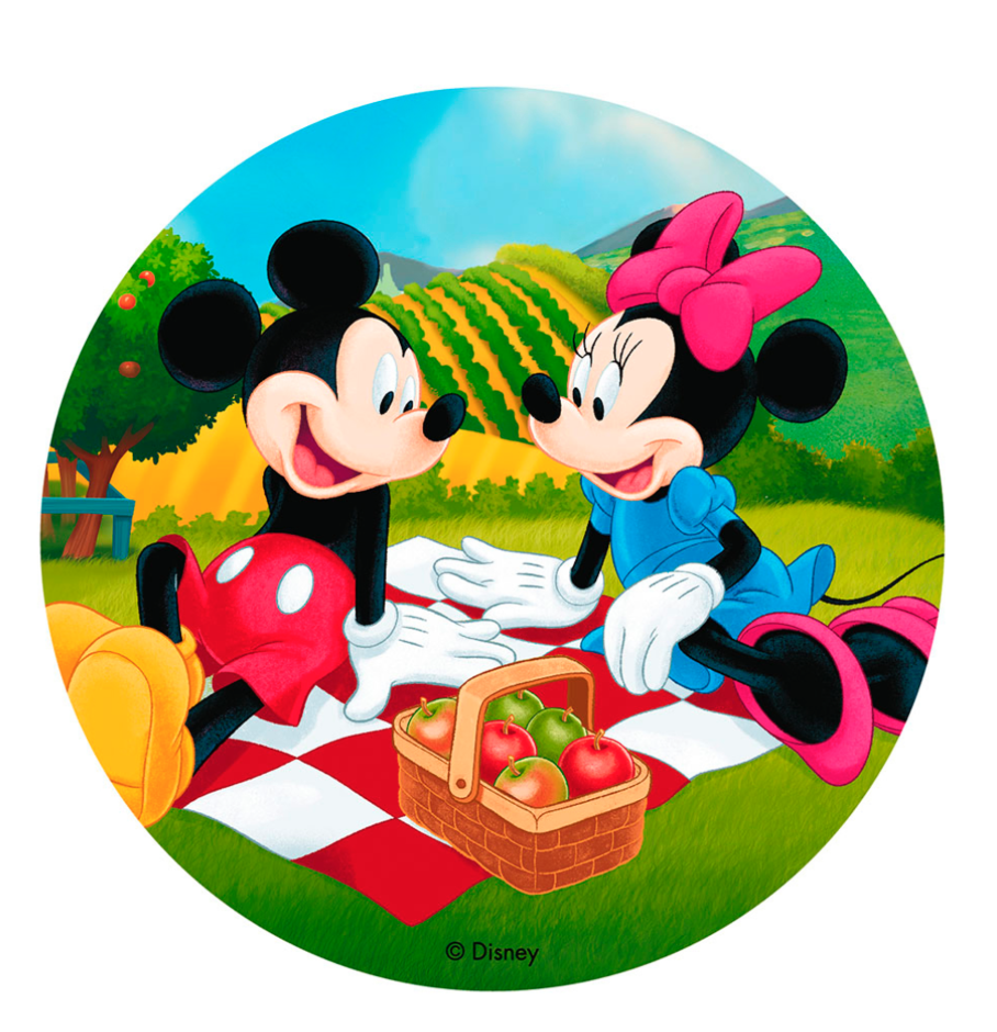 Mickey og Minnie Mouse kageprint - Mickey Mouse kageprint