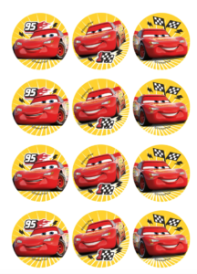 små cars kageprint til muffins 216x300 - Cars kageprint