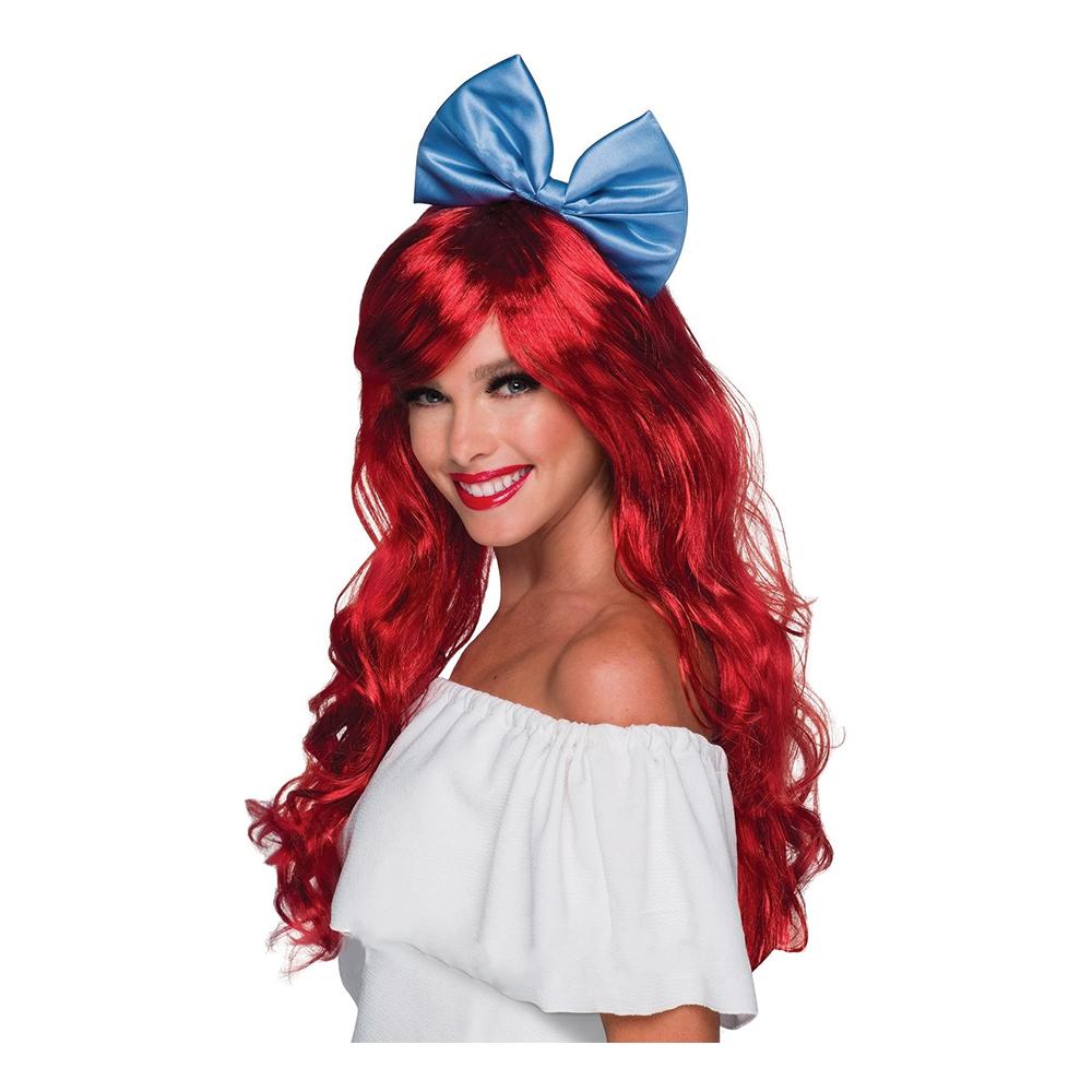 Ariel paryk rød paryk til voksne - Ariel kostume til voksne