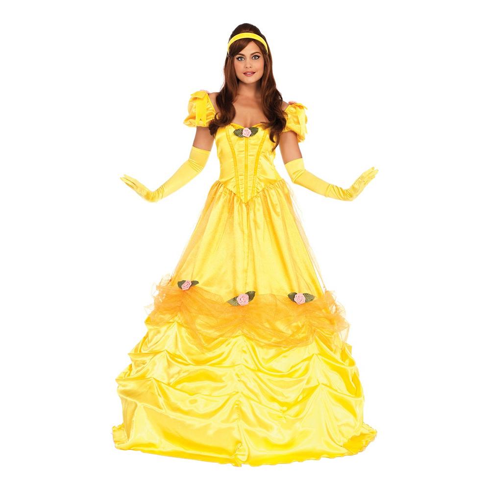 Belle kjole til voksne - Belle kostume til voksne