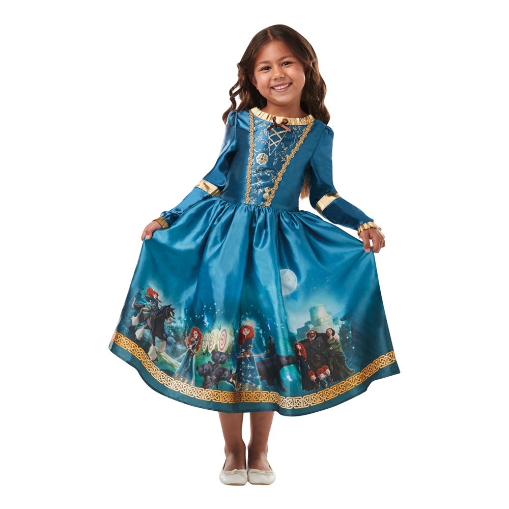 Merida kjole til børn - Merida kostume til børn