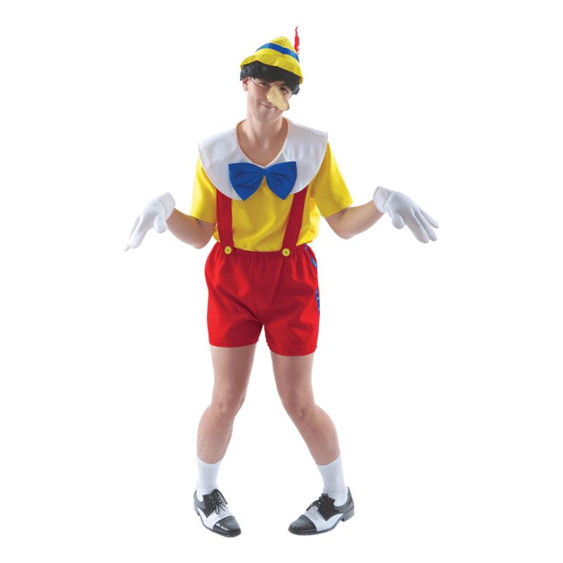 Pinocchio voksenkostume - Pinocchio kostume til voksne