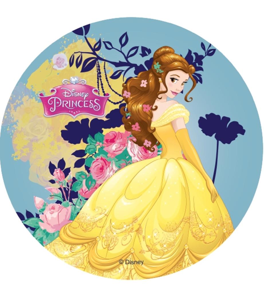 Belle kageprint - Disney prinsesser kageprint