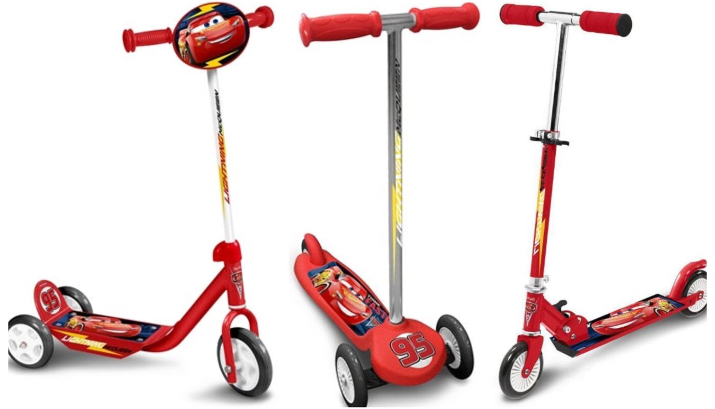 Cars løbehjul til børn, cars 3 løbehjul, mcqueen løbehjul til børn, disney løbehjul til børn, disney løbehjul til drenge, disney løbehjul med 3 hjul