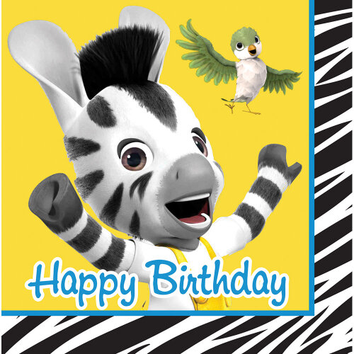 Disney Zou servietter - Disney Zou fødselsdag borddækning