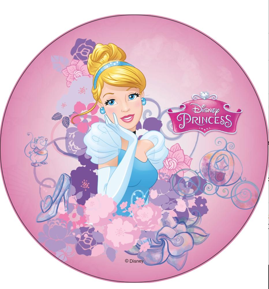 askepot kageprint - Disney prinsesser kageprint