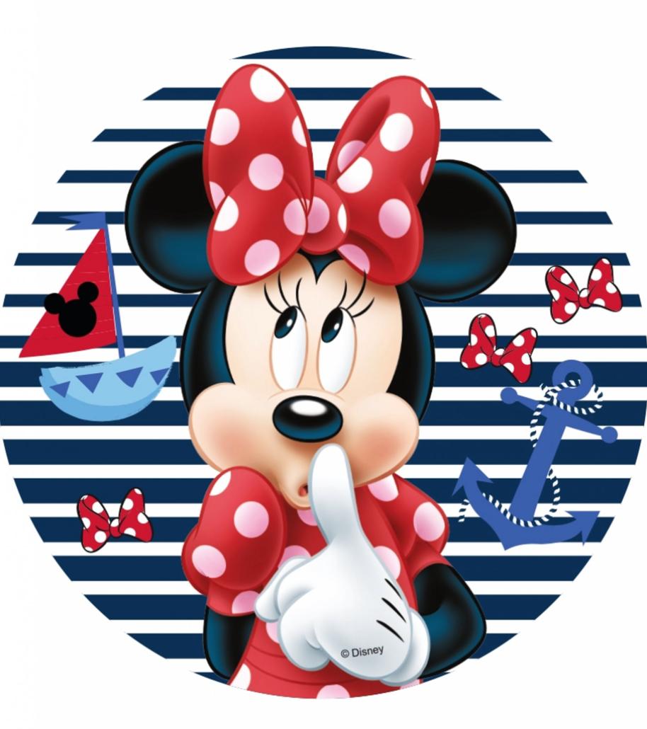 nem minnie mouse kage  - Nem Minnie Mouse kage med Minnie Mouse kageprint