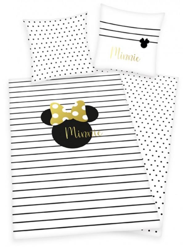 Minnie Mouse sengesæt med guldprint - Minnie Mouse sengetøj