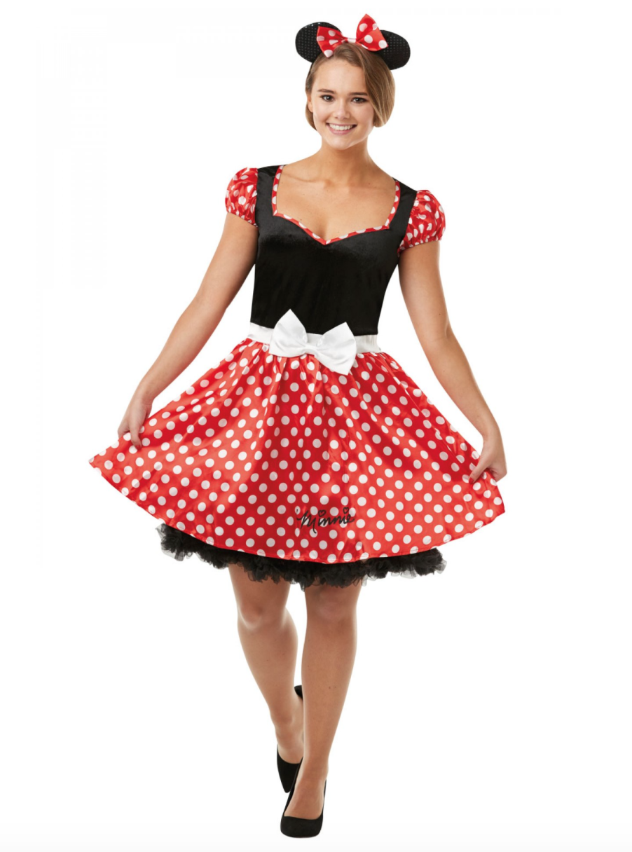 Minnie mouse fastelavnskostume til voksne - Minnie Mouse kostume til voksne