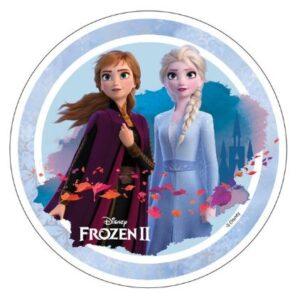 Elsa Anna fra Disney's Frost 2 – Spiseligt Print 300x298 - Lav nemt en Frost kage med Frost kageprint