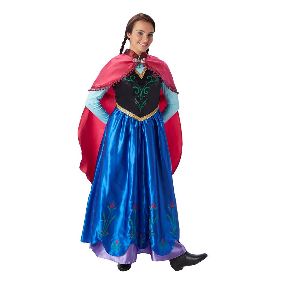 Frost anna kostume til voksn - Disney prinsesse kostume til voksne