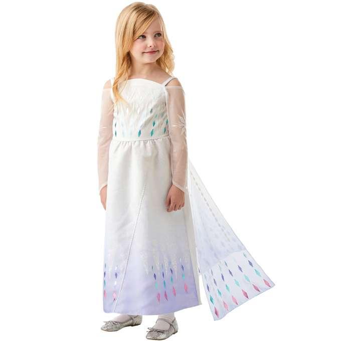 Frost elsa hvid kjole - Frost 2 børnekostumer