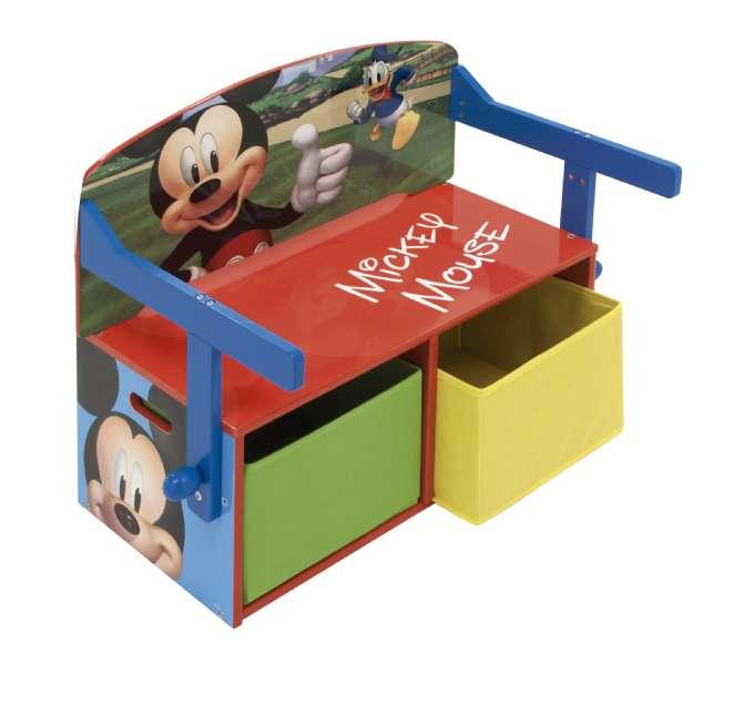 Mickey mouse 3 i 1 bænk og bord - Mickey Mouse børneværelse - find inspiration