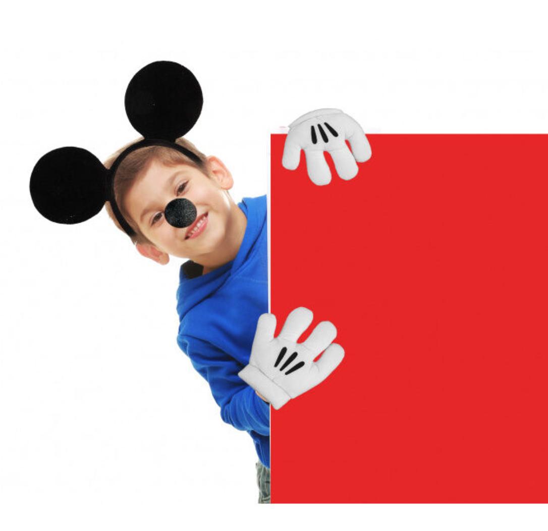 Mickey mouse udklædning - Mickey mouse kostume til børn