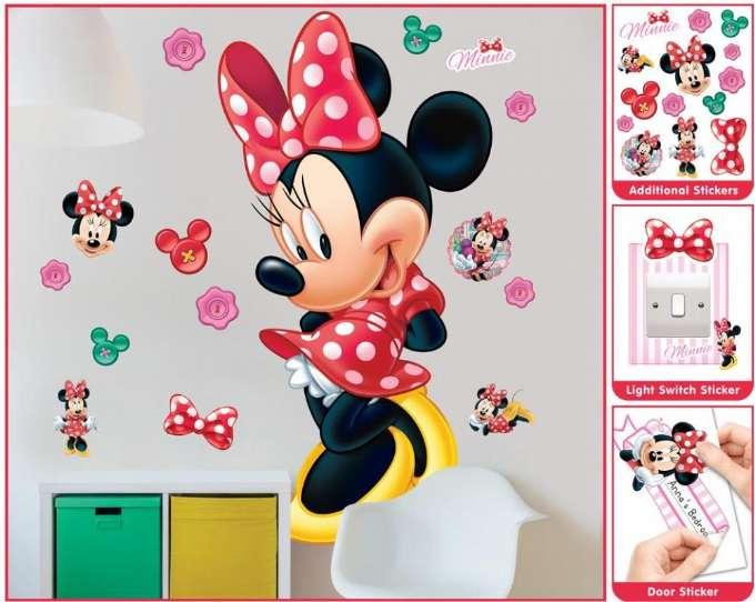 Minne Mouse wallstickers - Inspiration til indretning af Minnie Mouse børneværelse