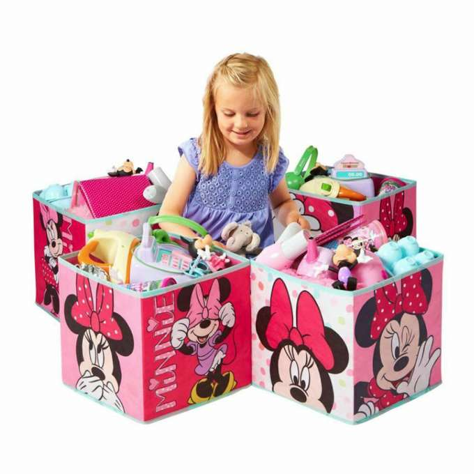 Minnie Mouse opbevaringskasser til børn - Inspiration til indretning af Minnie Mouse børneværelse