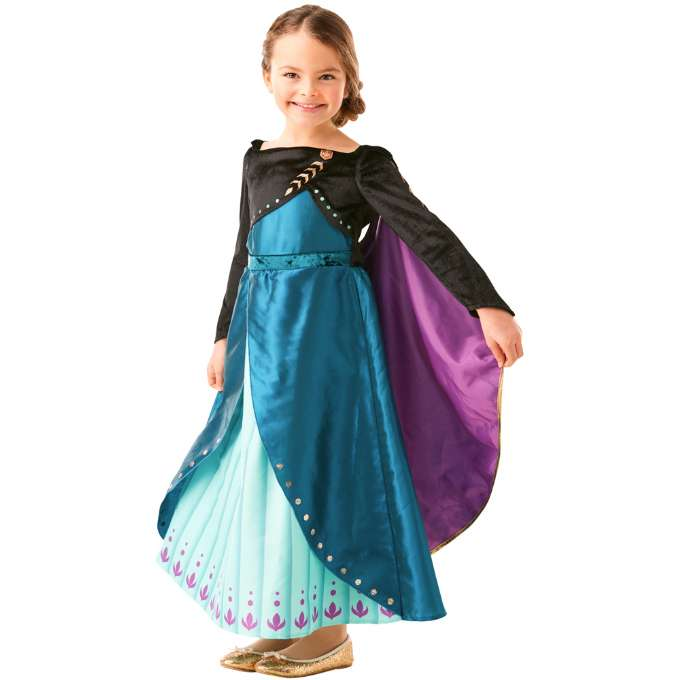 anna frost 2 blå kjole - Disney prinsesse kostume til børn