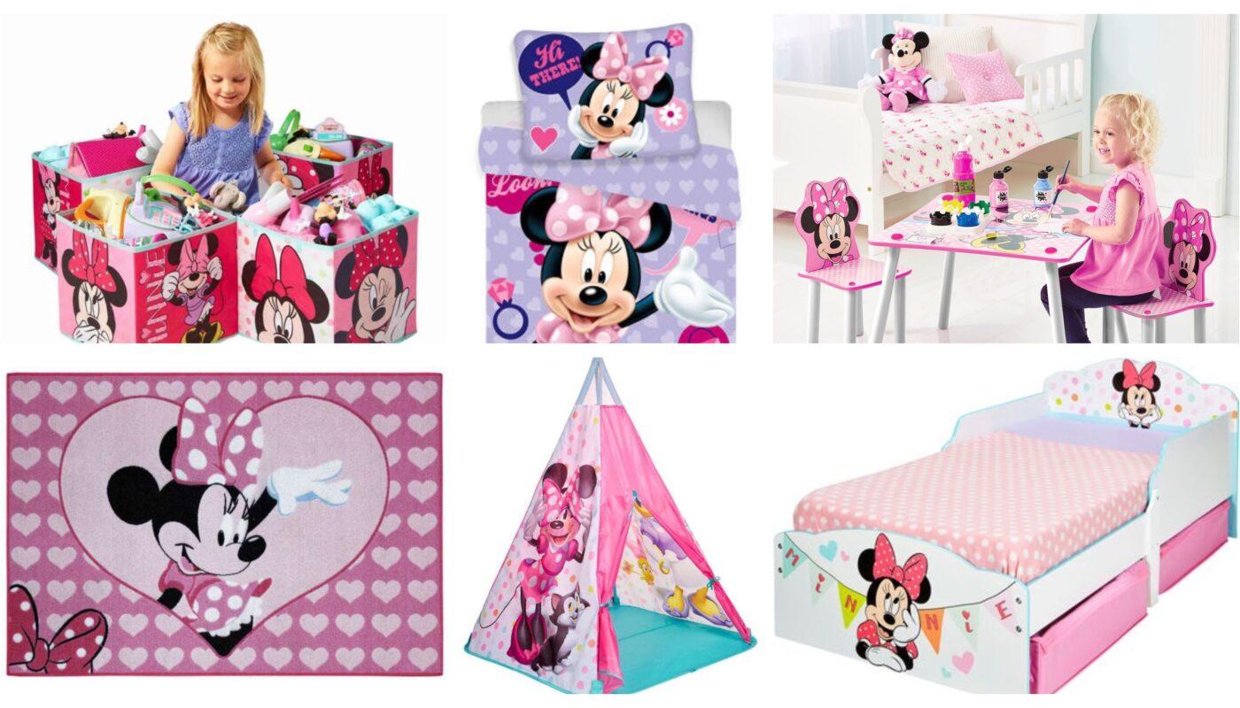 Minnie mouse børneværelse, indrette minnie mouse værelse, minnie mouse børnemøbler, minnie mouse møbler, minnie mouse børneværelse til piger, skab nemt et minnie mouse værelse