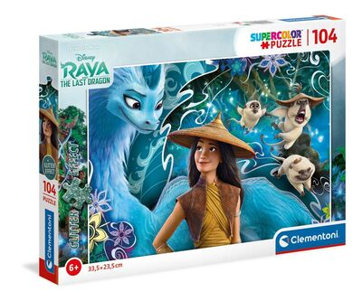 Disney Raya Puslespil m. Glitter - 10+ Raya og den sidste drage gaveideer til børn
