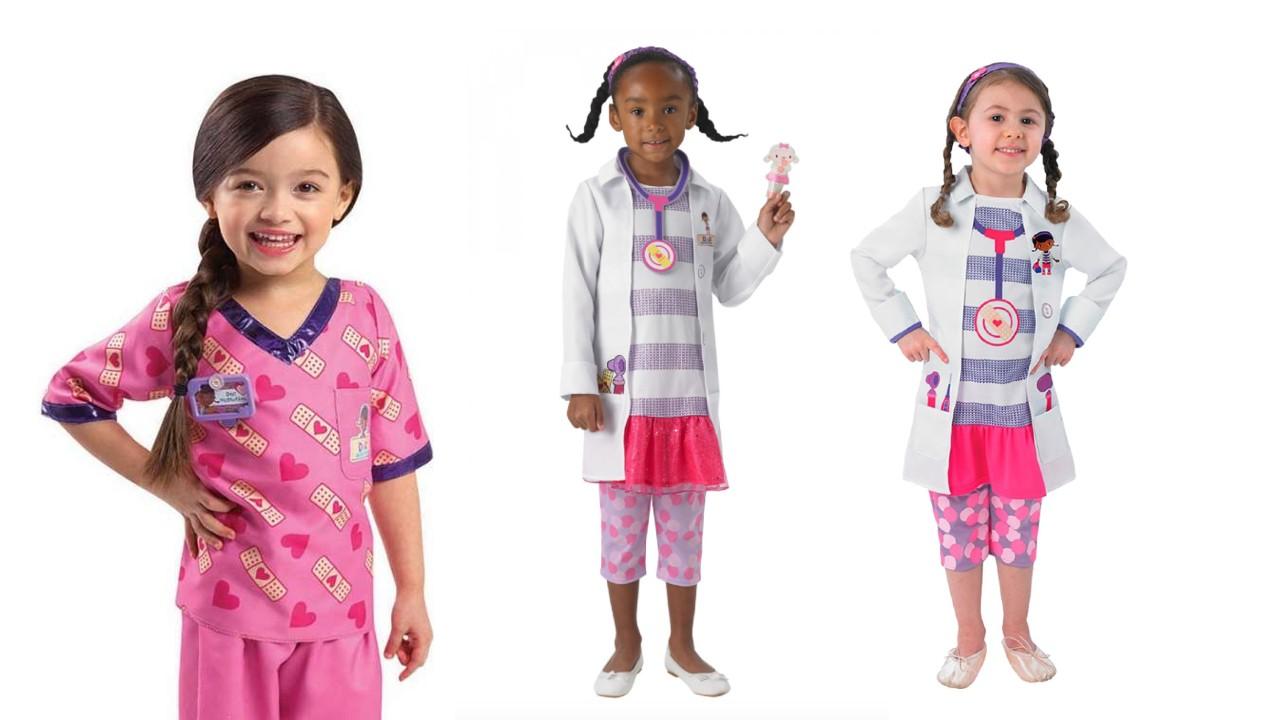 Doktor Mcstuffins børnekostume, disney junior kostumer, disney kostumer til børn, disney mcstuffins kostume til børn, læge kostume til børn, dyrlæge kostume til børn, disney børnekostumer, disney fastelavnskostumer til børn, disney dyrlæge kostume til børn
