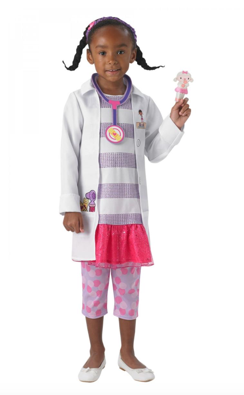 Doktor Mcstuffins kostume til børn - Doktor McStuffins børnekostume