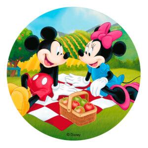 Mickey og Minnie Mouse kagebillede 300x300 - Mickey Mouse kageprint